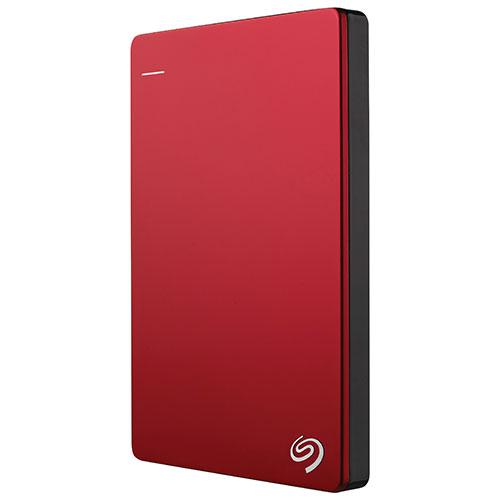 """SEAGATE - RETAIL - BACKUP PLUS Slim 2TB 2.5"""" USB3.0 External Red Hard Drive STDR2000103"""