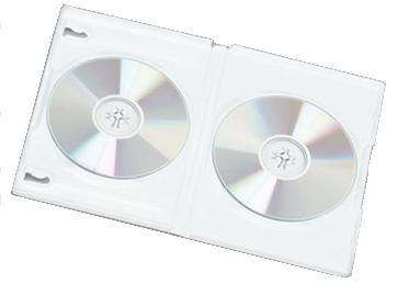 DVD Case - DOUBLE GLOSSY / MILKY WHITE 10 PK