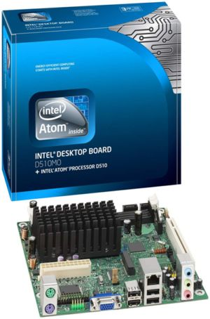 INTEL BOXD510MO ATOM D510 MINI-ITX RTL INTEL GRAPHICS, AUDIO, 1 PCI