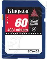 KINGSTON SDV/4GB 4GB SECURE DIGITAL HIGH CAPACITY MEMORY RETAIL BOX
