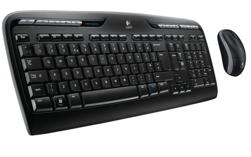 LOGITECH-RETAIL WIRELESS COMBO MK320 KEYBOARD & MOUSE USB BLACK Retail