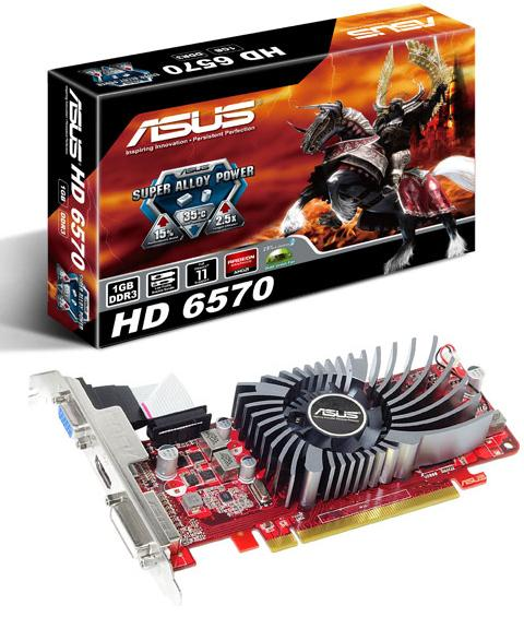 ASUS EAH6570/DI/1GD3(LP) HD 6570 1GB DDR3 128Bit PCIE 2.1 HDMI DVI VGA LP