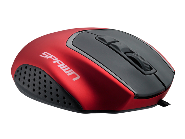 COOLERMASTER SPAWN 3500DPI (Japanese Wheel Encoder) Wired RED MOUSE Retail Box