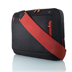 "Belkin Notebook 17"" Messenger Bag Black/Red  F8N051-BR"