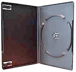 DVD Case - Single 14mm Black 100 Pack