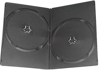 DVD Case - DUAL Black 10/BOX