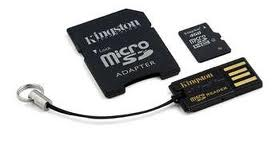 KINGSTON MBLY4G2/16GB Multi-Kit/Mobility Kit - Flash memory card (microSDHC to SD adapter included)