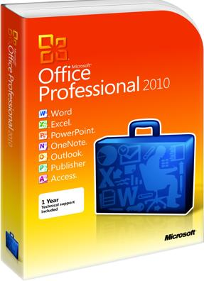 RETAIL - MICROSOFT OFFICE 2010 PRO 32-BIT/X64 ENGL DVD