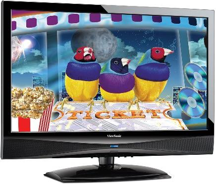 VIEWSONIC VT2430 24&quot; WIDE LCDTV TFT ACTIVE MATRIX ,10,000:1,5MS HDMI,Dolby, Surround,
