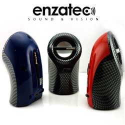 ENZATEC PORTABLE MINI SPEAKER WITH BUILT-IN LI-ION BATTERY SILVER