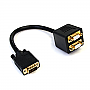 StarTech 1FT VGA TO 2X VGA VIDEO SPLITTER CABLE M/FF VGASPL1VV