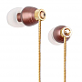 G-CUBE CRYSTAL BEATS EARPHONE BROWN