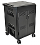 Ergotron 24-302-085 	PowerShuttle Tablet Charging Cart, AC-cart Black upto 30 devices
