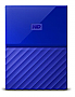 "WESTERN DIGITAL - RETAIL - My Passport 1TB 2.5"" Blue USB3.0 External Hard Drive WDBYNN0010BBL-WESN"