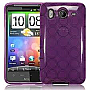 GENERIC TPU Gel Rubber Case for HTC Phone Purple Argyle HTC-PA-SCS054