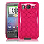 GENERIC TPU Gel Rubber Case for HTC Phone Pink Argyle HTC-PA-SCS053