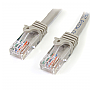 StarTech 45PATCH1GR  1ft Gray Snagless RJ45 Cat5e UTP Patch Cable Retail