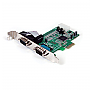 StarTech 2 Port Native PCI-Express RS232 Serial Adapter Card with 16550 UART Retail PEX2S553