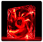 Thermaltake Pure 12 LED Red 120mm High performance enduring case fan Retail 	CL-F019-PL12RE-A