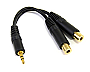 StarTech  MUY1MFF 6in 3.5mm Stereo Splitter Cable 3.5mm Male to 2x3.5mm Female