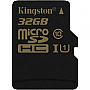 KINGSTON SDCA10/32GB microSDHC 32GB Class 10/UHS-I R90MBps/W45MBps DIGITAL MEMORY (SD adapter included) Retail Package