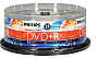 DVD MEDIA - PHILIPS 8X DVD+R DOUBLE LAYER 25/PK