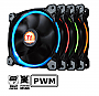 Thermaltake Riing 12 LED RGB 3 Fan with controller Retail CL-F042-PL12SW-B