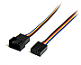 STARTECH 12IN 4-PIN FAN POWER EXTENSION CABLE