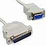 10FT Serial Cable DB25M-DB9F