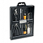 SYBA  32 Piece Hobby Tool Kit Black Slim Fold-out Case Retail Pack SY-ACC65049