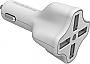 Digipower PC-406I USB Car Charger with 6.2 Amp 4-Port Car Charger with InstaSense Technology  Retail