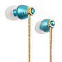 G-CUBE CRYSTAL BEATS EARPHONE BLUE