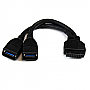 STARTECH  2 Port Internal USB 3.0 Motherboard Header Adapter Cable USB3SMBADAP6