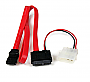 "StarTech SLSATAF20 20"" Slimline SATA Female to SATA w/LP4 PowerCable Retail"