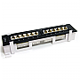 StarTech C6PANL4512 12 Ports 1U Rackmount Cat 6 110 Patch Panel 45 Degree Retail